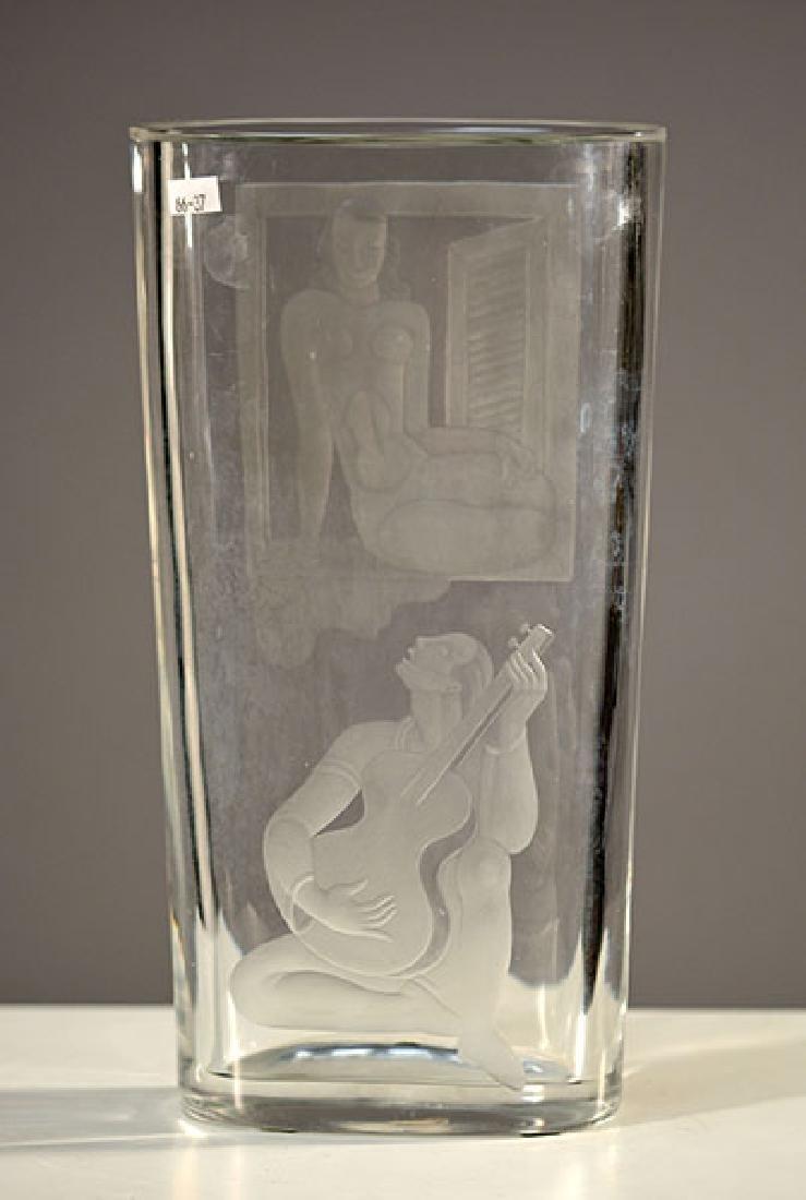 Orrefors/Lindstrand Art Deco Vase