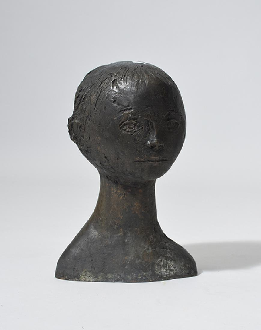 Bronze bust,  by John Wines dated