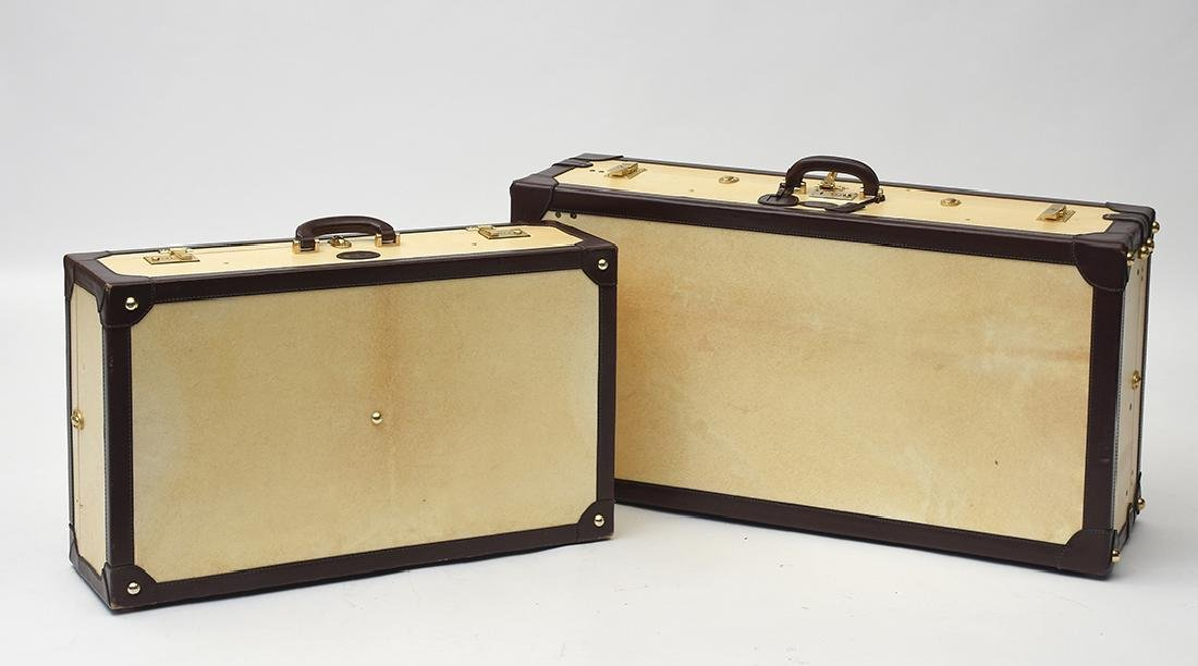 A Italian made Cellerini Firenze steamer trunk and suit