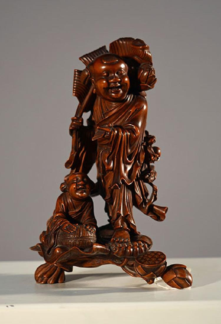 19th C. Chinese Wood Figure