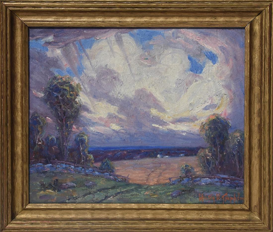 Oil on board by Walter W  Thompson (1882 - 1948)