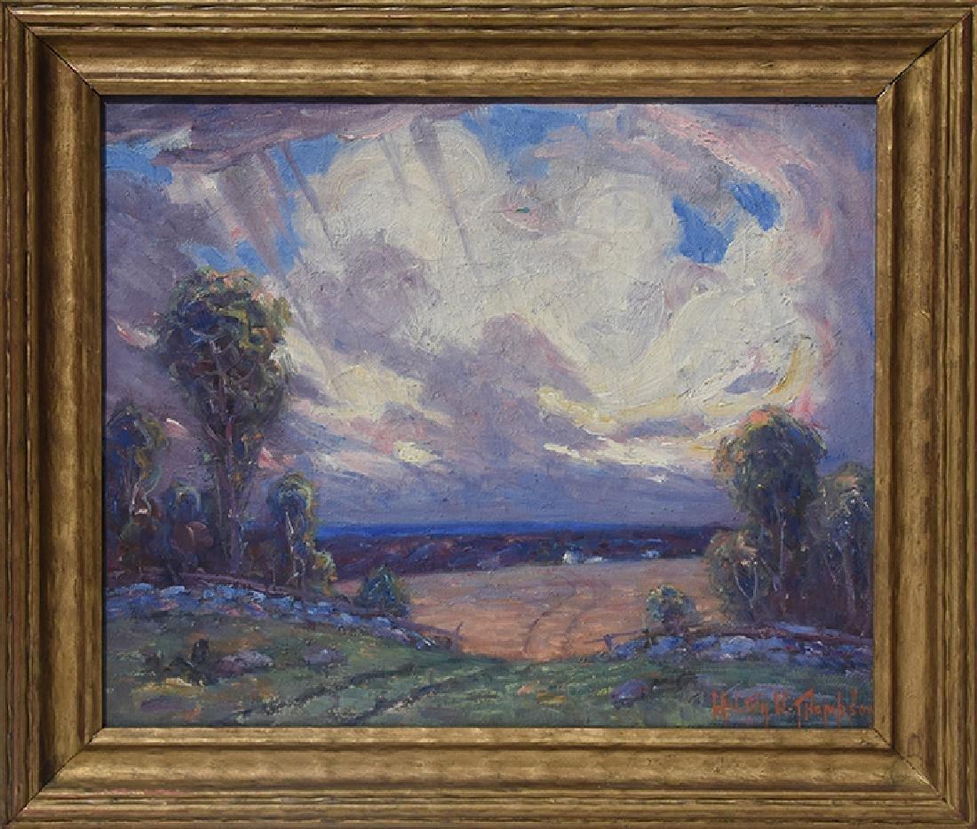 Oil on board by Walter W. Thompson (1882 - 1948)
