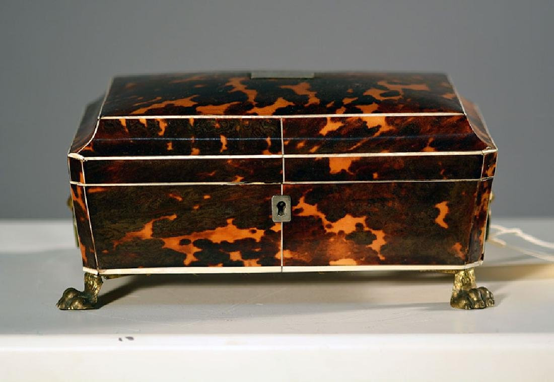 Early Tortoise Shell Dresser Box