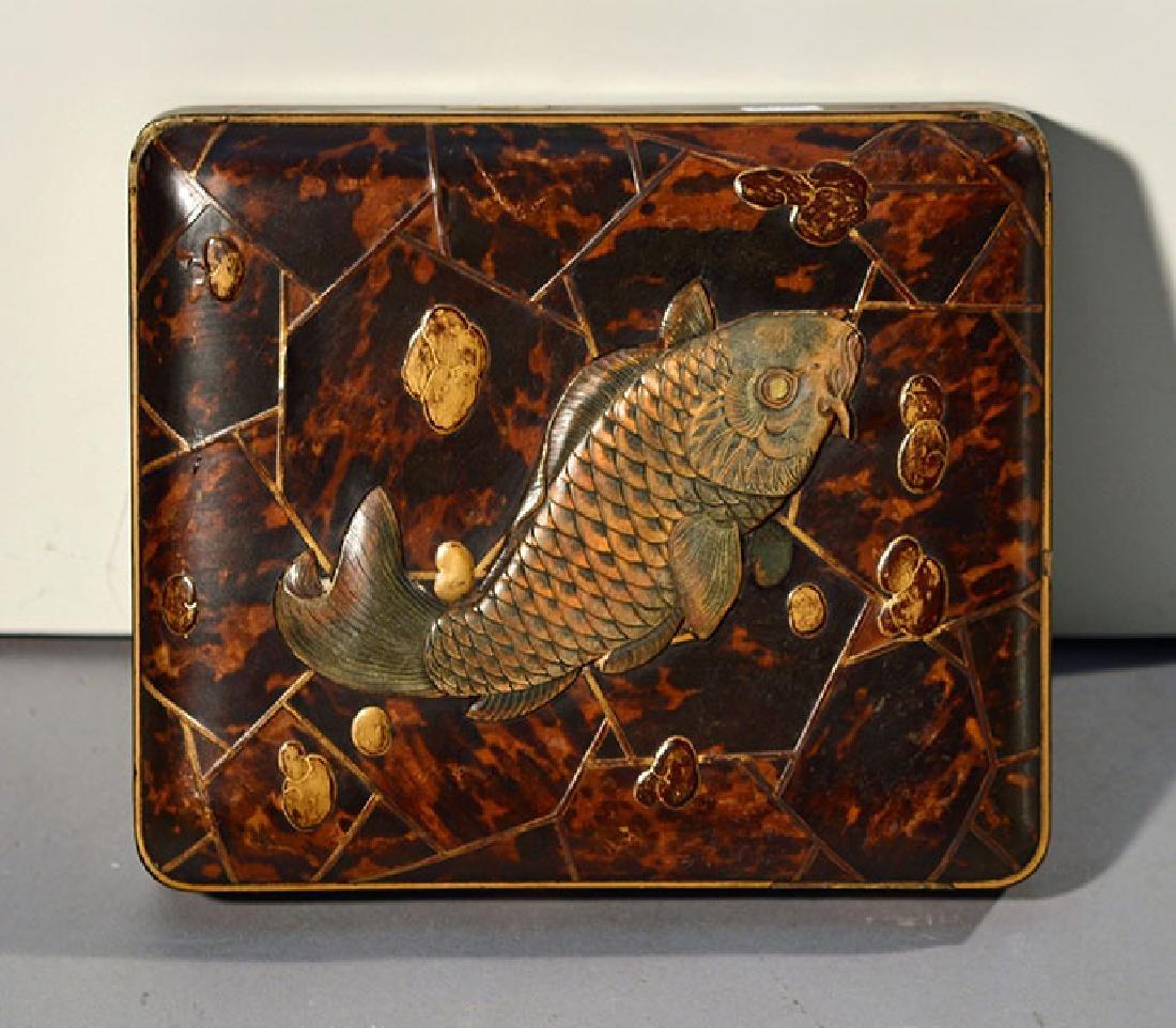 19th C. Meiji Period Lacquer Box