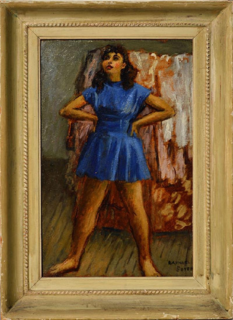 Raphael Soyer Oil on Wood