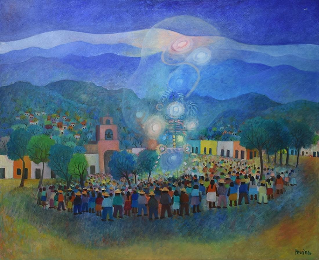 Aurelio Pescina (1938 - 1990), Oil on Canvas