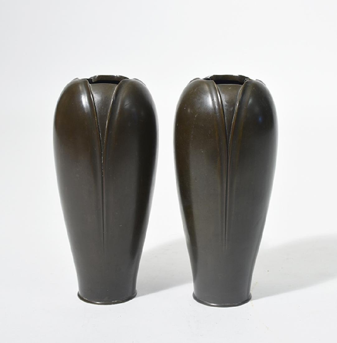 Pair of Japanese Meiji Bronze Vases
