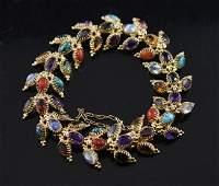 14K Semi Precious Stone Bracelet