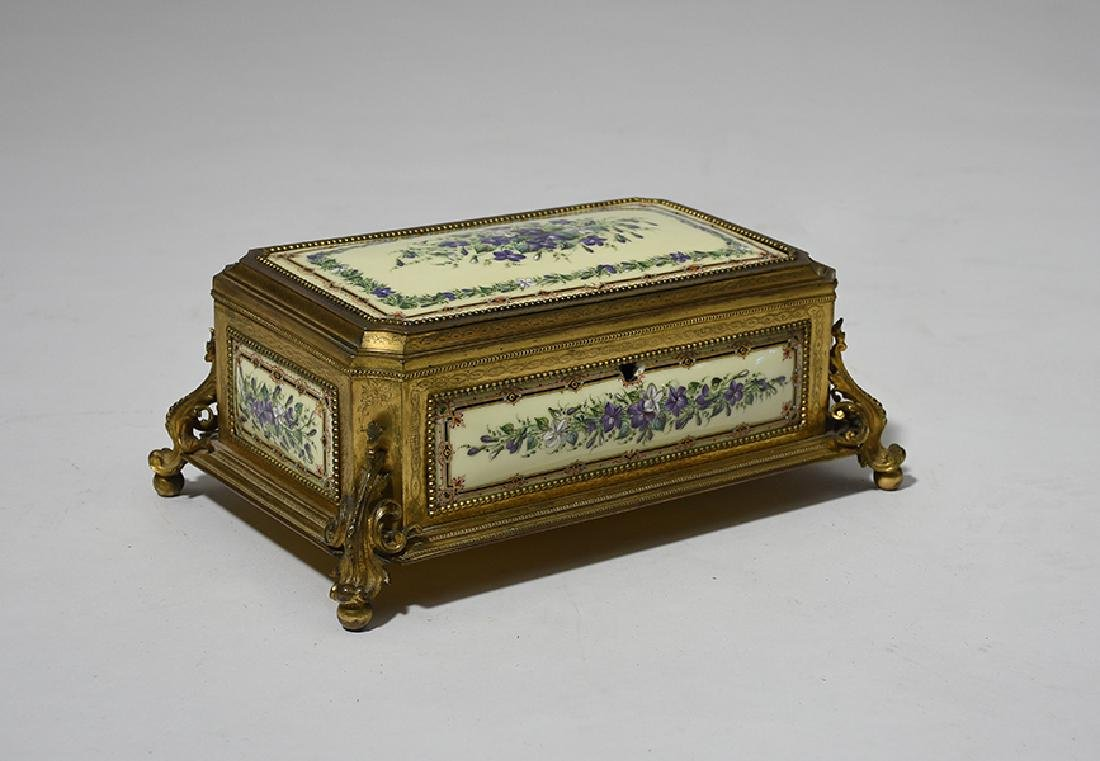 Fine 19th C. French bronze and enamel decorated