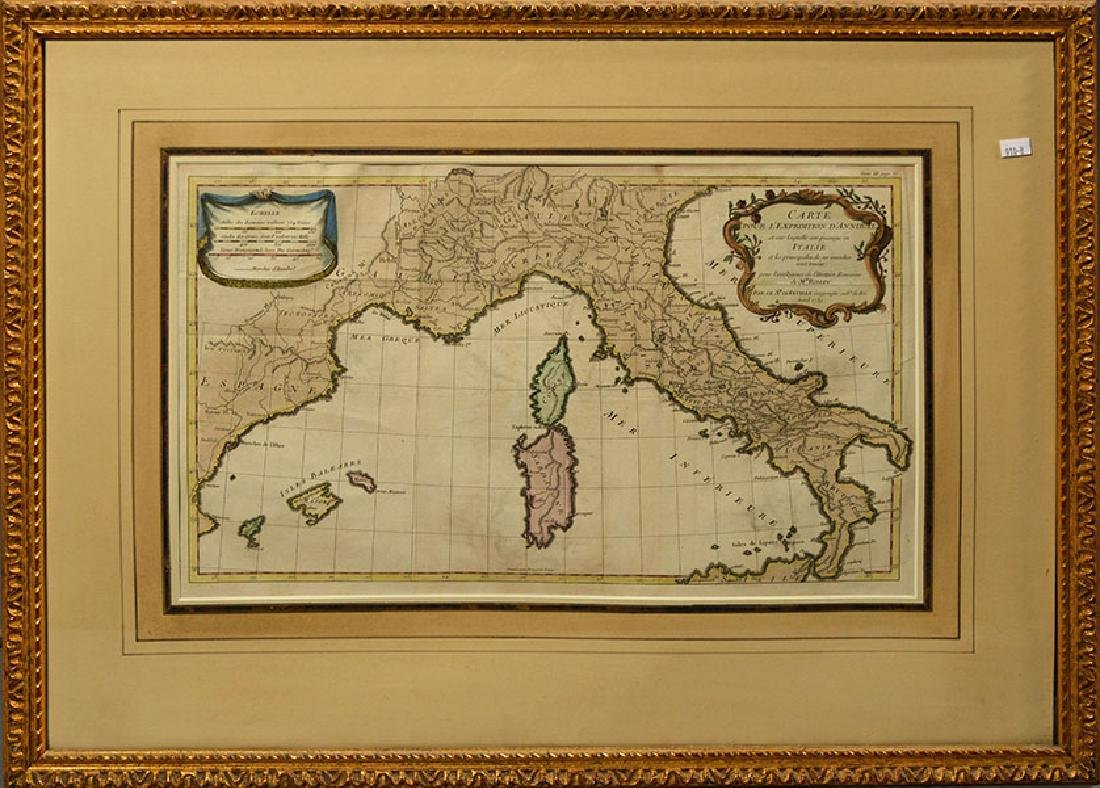 18th C. Map of Italy