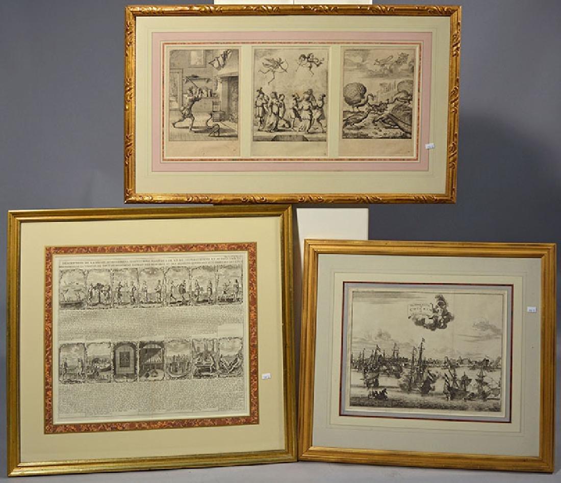 Three 18th C. Framed Prints