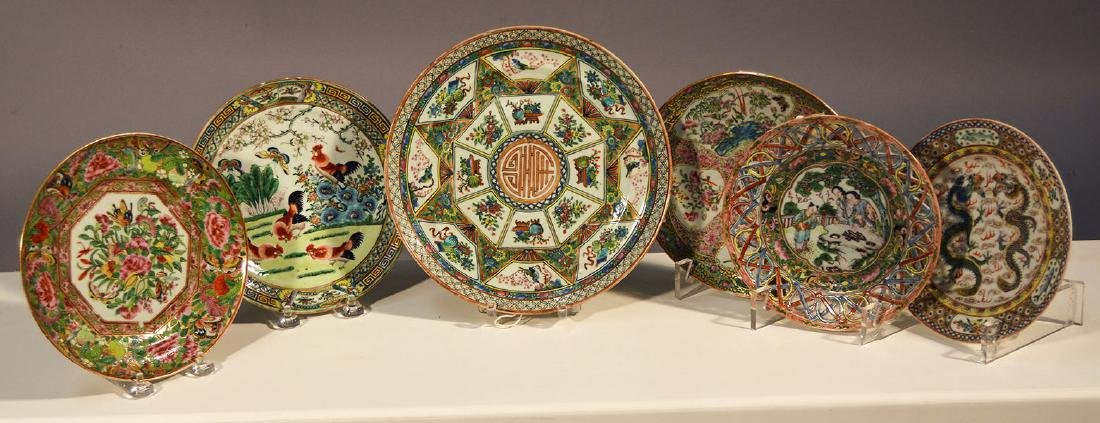 Six 19th C. Chinese Export Plates