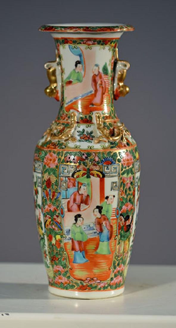 19th C. Rose Medallion Vase