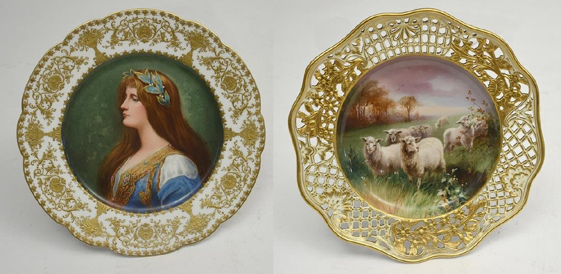 Two cabinet plates