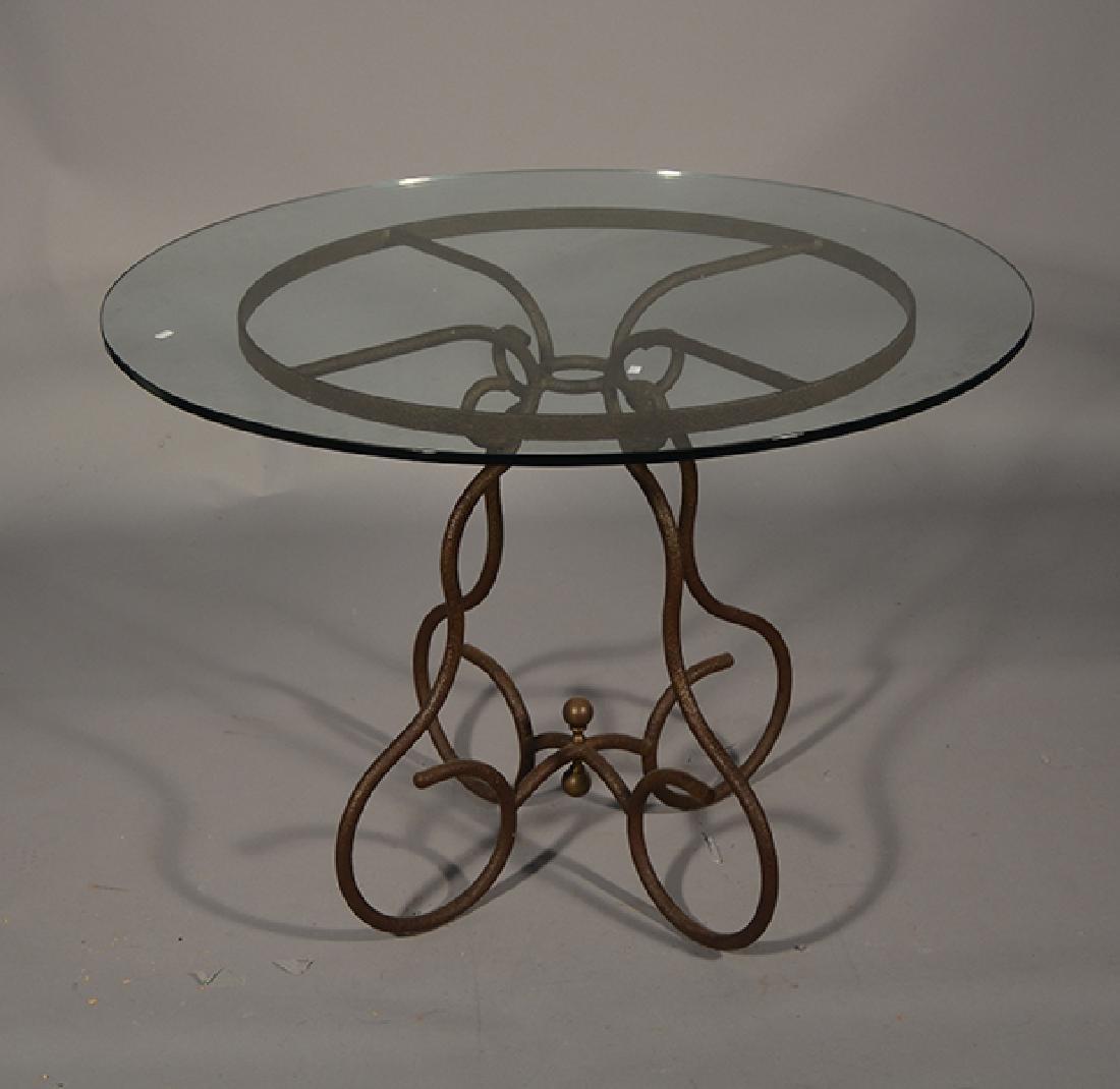Iron & Glass Breakfast Table