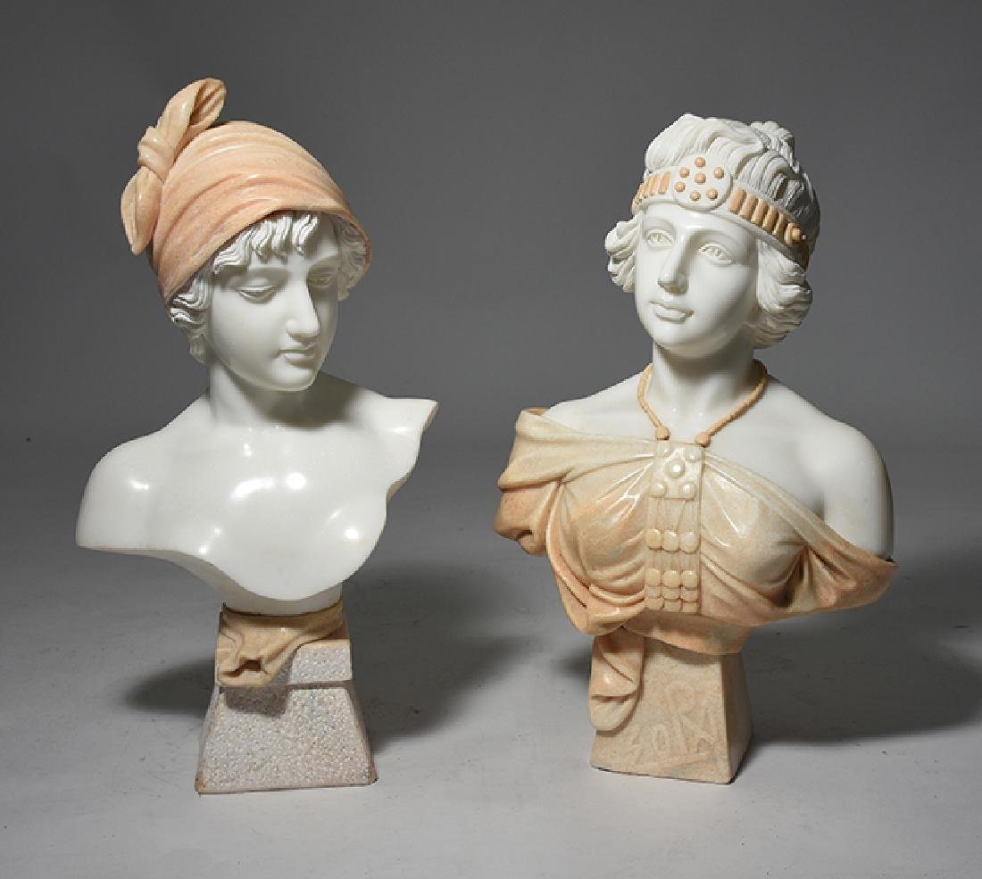 Two Carved Marble Busts