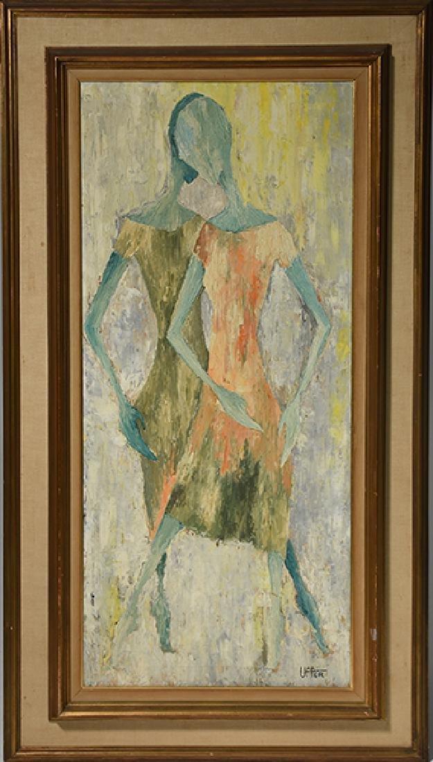 Mid Century Abstract Painting, Uffer