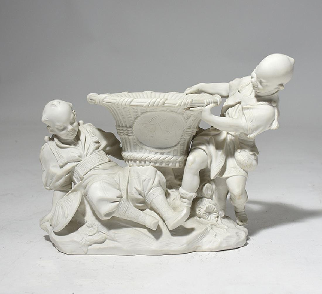 19th C. Parian Figural Group, Sevres