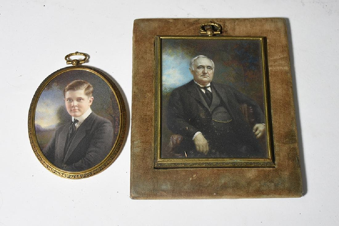 Two miniature paintings, both artist signed Hartman