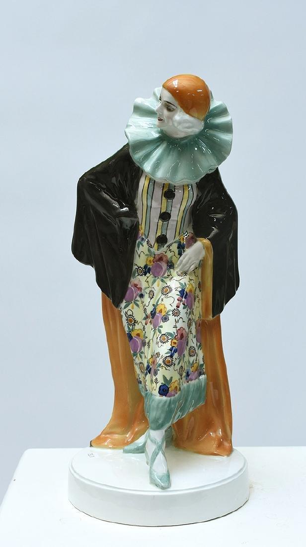 Large Goldscheider Art Deco figure of Harlequin