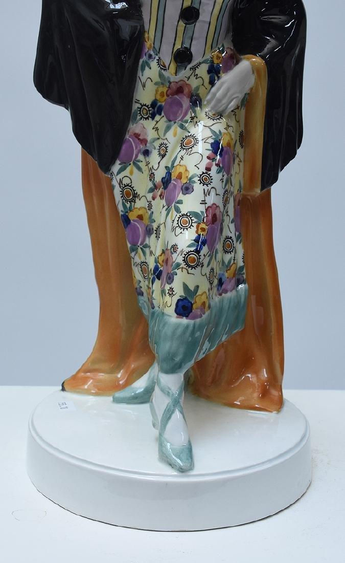 Large Goldscheider Art Deco figure of Harlequin - 2