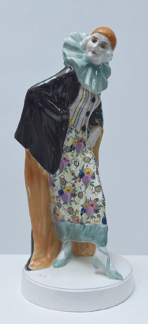 Large Goldscheider Art Deco figure of Harlequin - 3