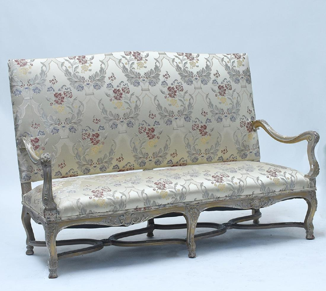 French 19th C. Louis XV style three seat settee