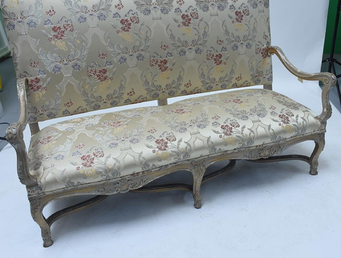 French 19th C. Louis XV style three seat settee - 2