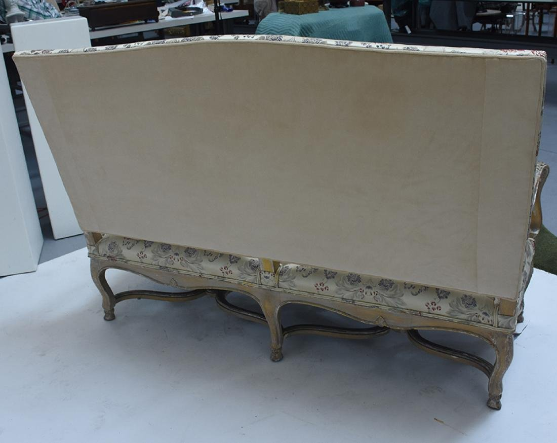 French 19th C. Louis XV style three seat settee - 4