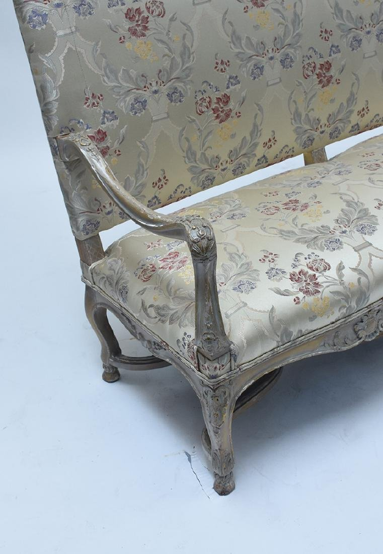 French 19th C. Louis XV style three seat settee - 5