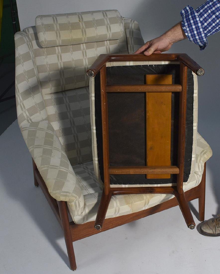Dux Mid-Century teak reclining chair and ottoman - 3