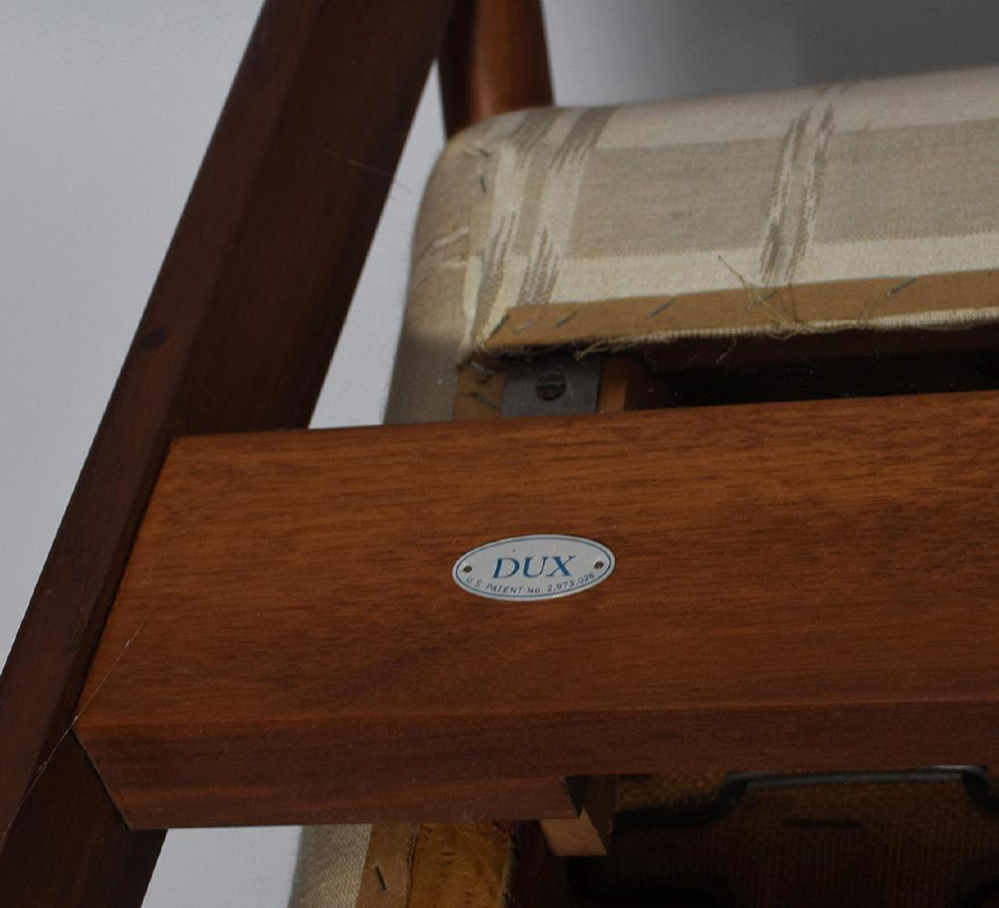 Dux Mid-Century teak reclining chair and ottoman - 4