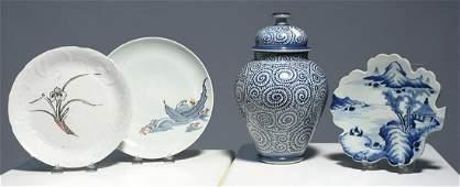 Four pieces of Japanese ceramics