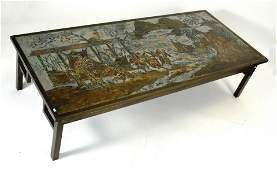 """LaVerne bronze """"Oriental Marriage Whirl"""" coffee table"""