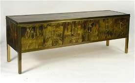 Bernhard Rohne for Mastercraft bronze sideboard