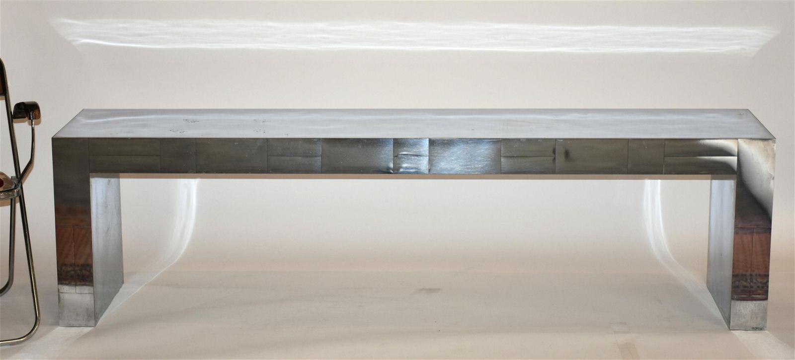 """Paul Evans console table, """"Cityscape"""""""