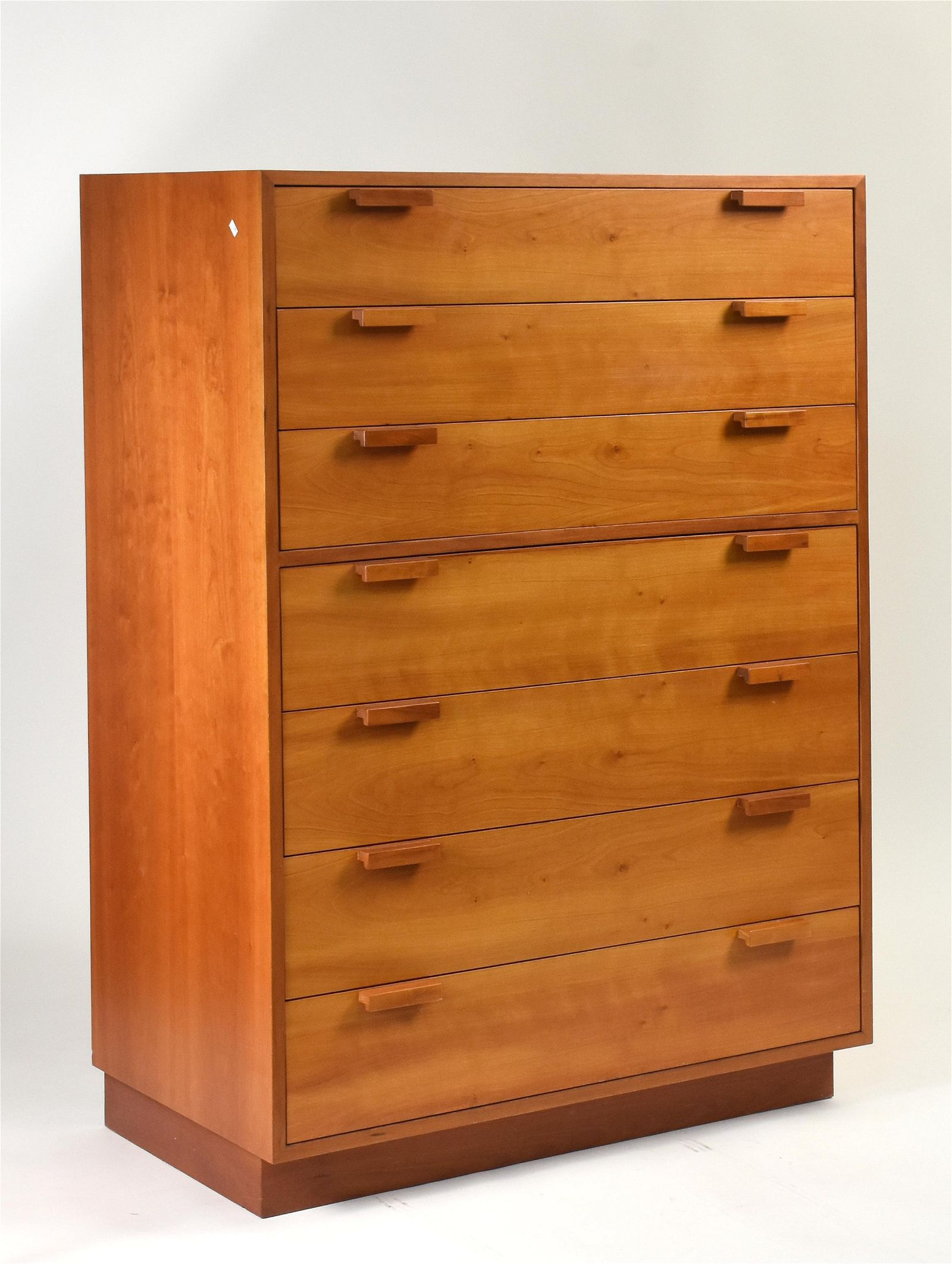 Charles Webb 20th C. cherry seven-drawer chest