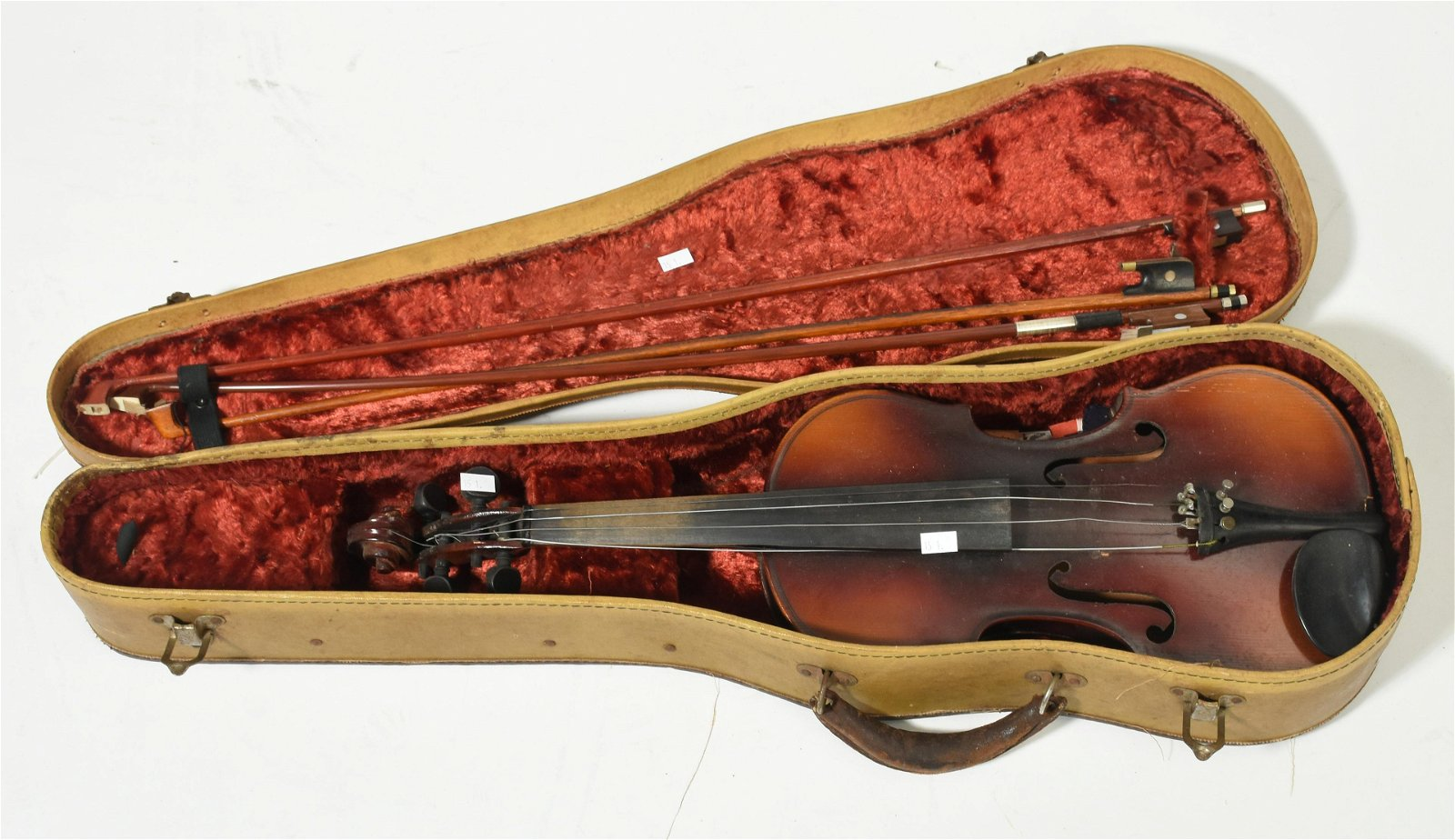 Maple violin with 3 bows with case