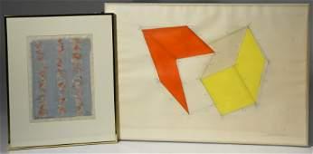 Two modern artworks by Charles Hinman  Arthur Power