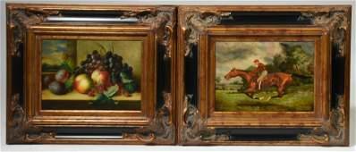Pair of 20th C. oil paintings