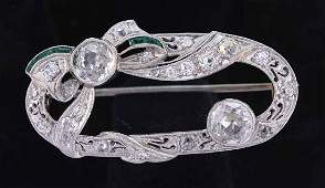 Edwardian Platinum and Diamond pin