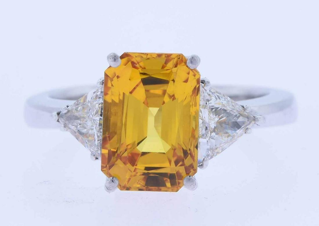 Zydo 18K Yellow Sapphire and Diamond ring