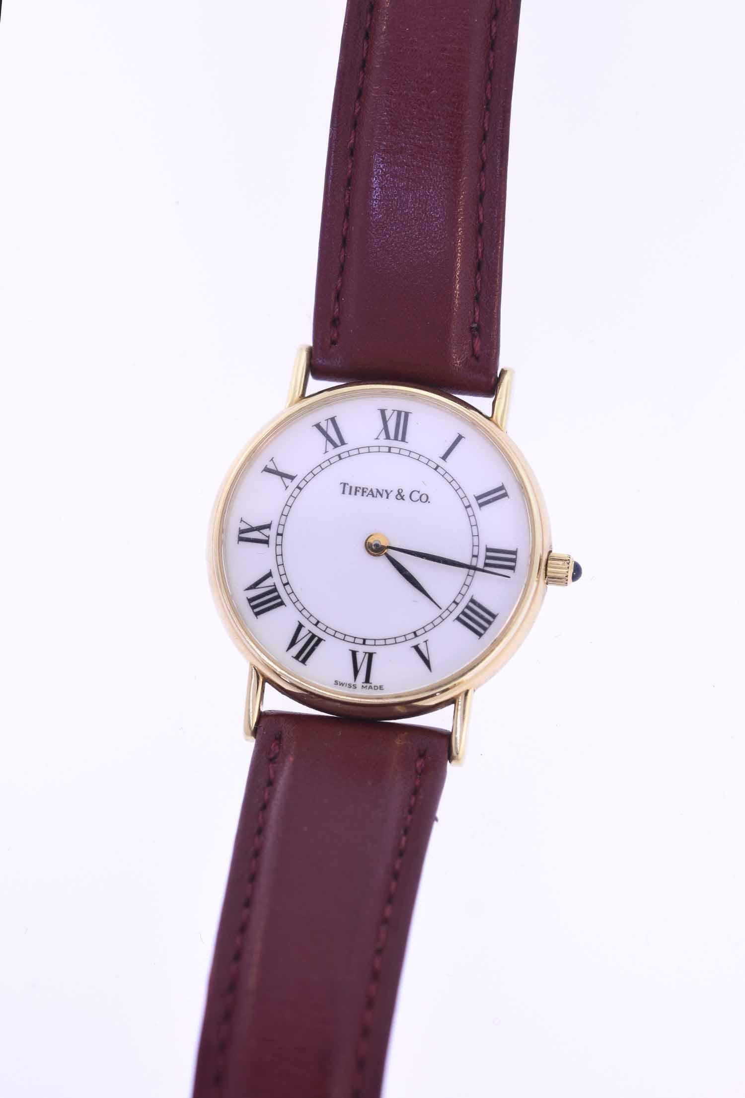 Men's 14K gold Tiffany and Co. wrist watch