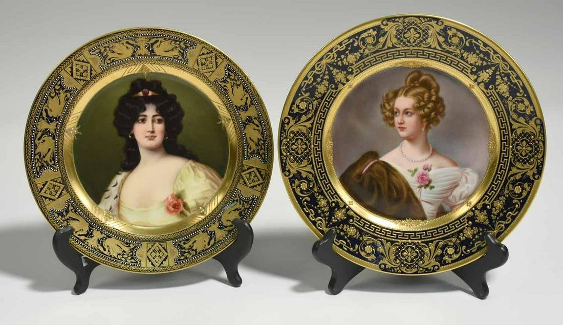 Two Royal Vienna Cabinet Plates