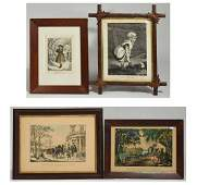 Four Currier  Ives Lithographs