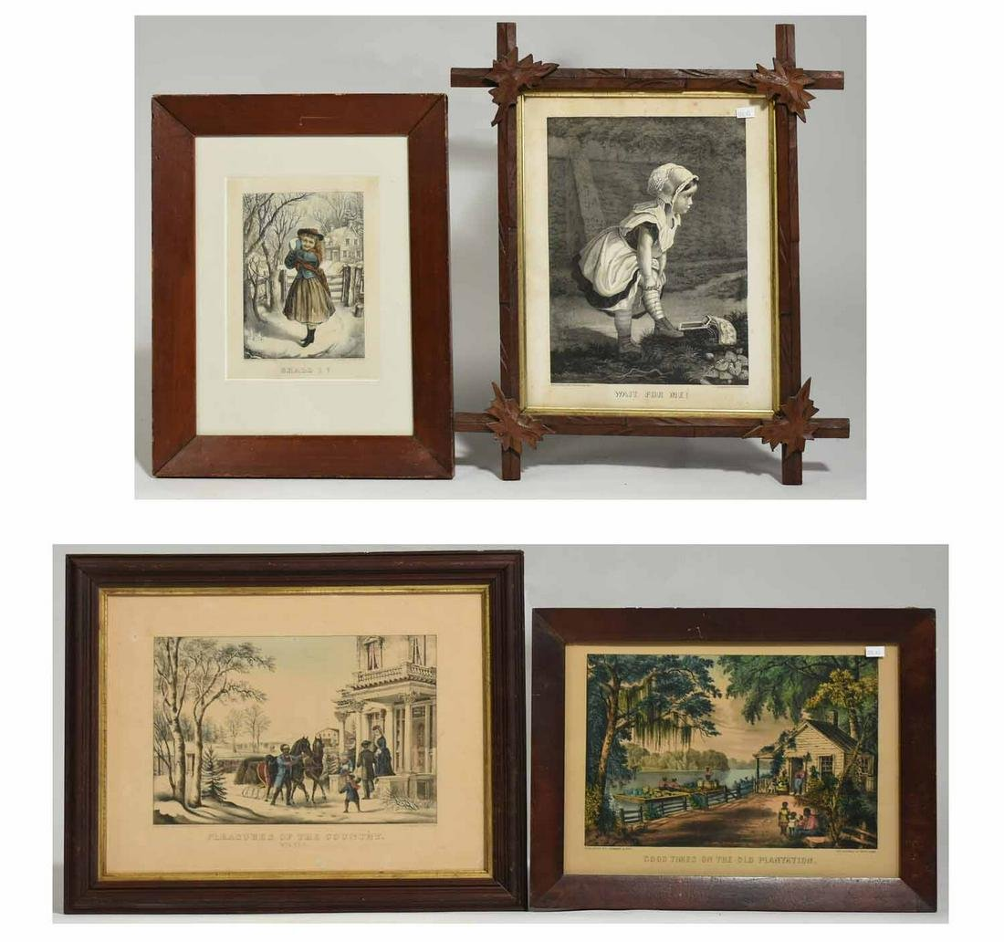Four Currier & Ives Lithographs