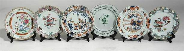Six Early Chinese Porcelain Plates