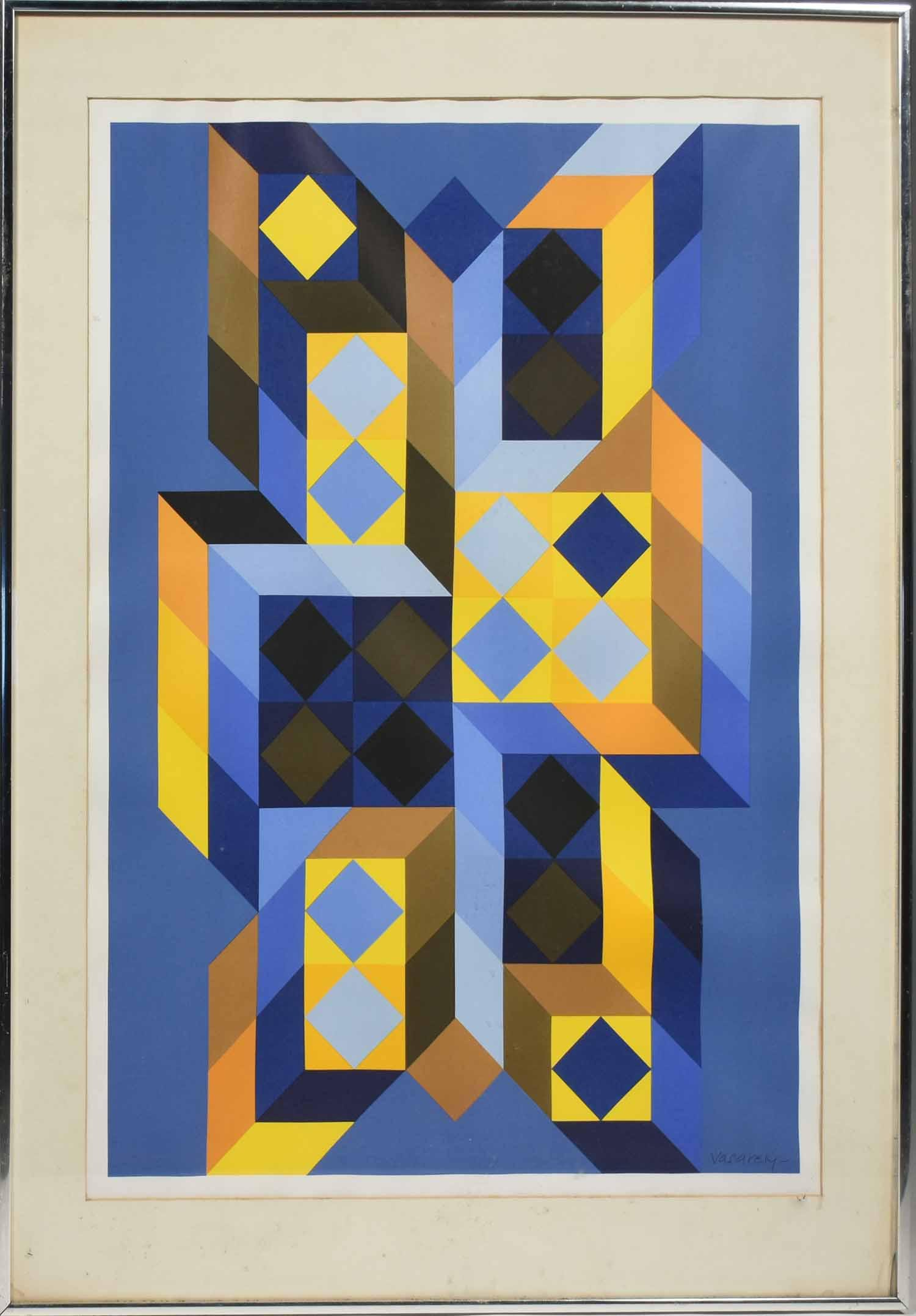 Victor Vasarely serigraph in colors