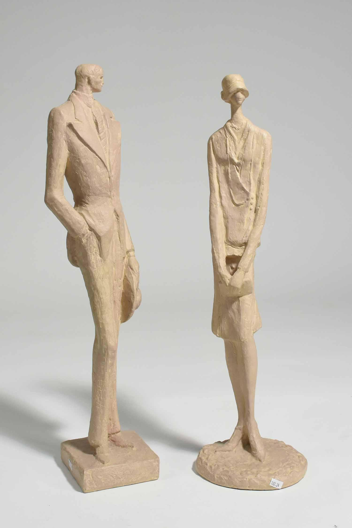 Two Art Deco Ceramic Figures by Asa Finn