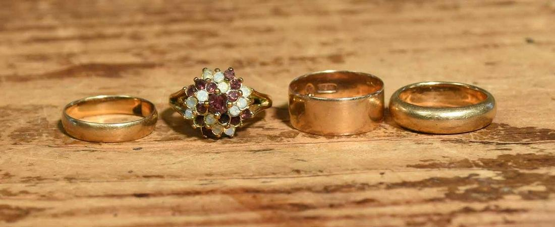 Group of 14K Gold Rings
